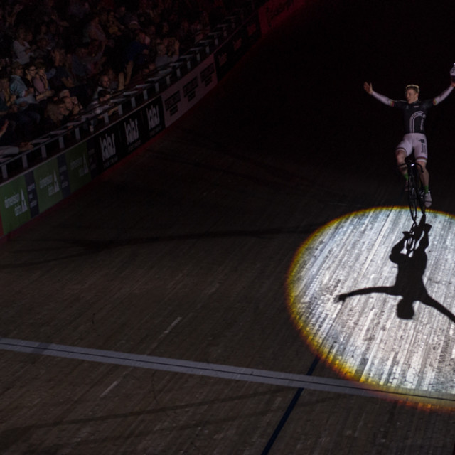 """Joochim Eilers winner sprints London 6 day"" stock image"