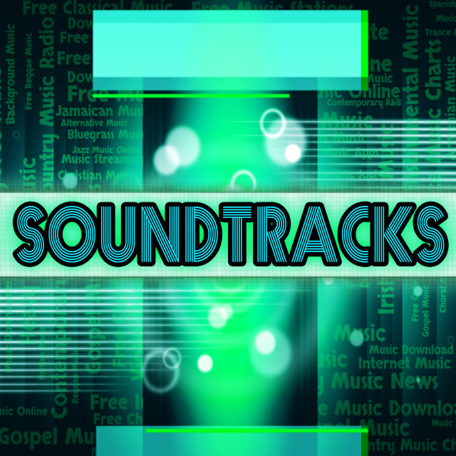 """""""Soundtracks Music Means Video Game And Harmony"""" stock image"""