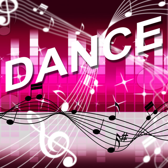 """""""Dancing Music Shows Sound Track And Melody"""" stock image"""
