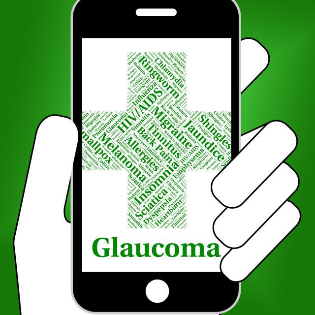 """Glaucoma Illness Shows Optic Nerve And Affliction"" stock image"