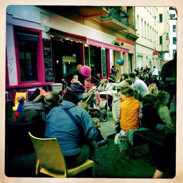 """""""Street Scene in Berlin Kreuzberg"""" stock image"""