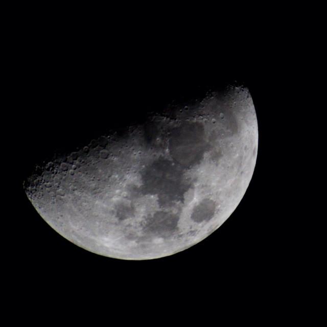 """Waning Moon"" stock image"