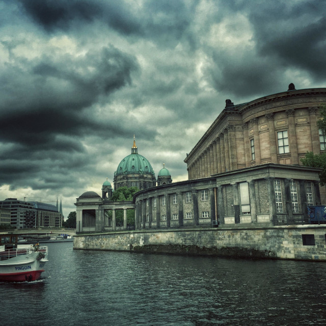 """""""River Spree and Berliner Dom Berlin Germany"""" stock image"""