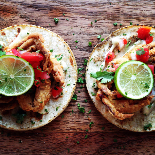 """Fish Tacos"" stock image"