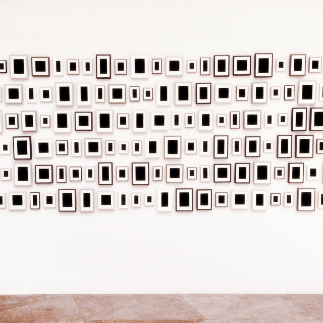 """""""""""200 Surrogates"""" by Allan McCollum - Smithsonian National Gallery of Art"""" stock image"""