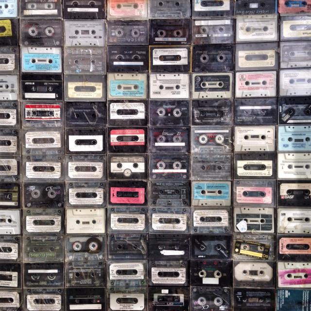 """Vintage Retro Audio cassette tapes"" stock image"