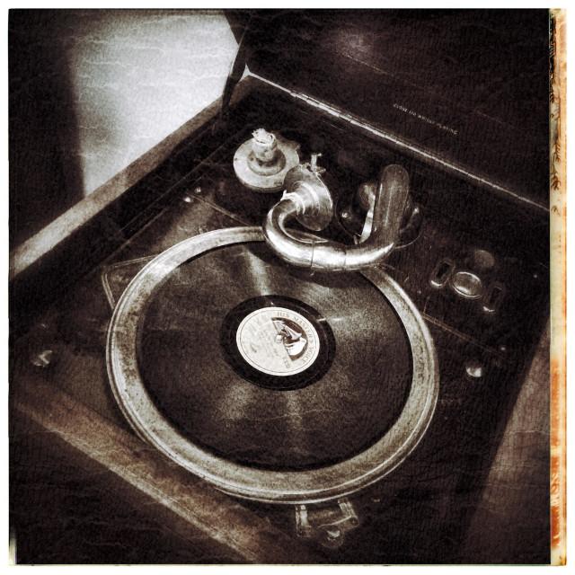 """Old gramophone ."" stock image"
