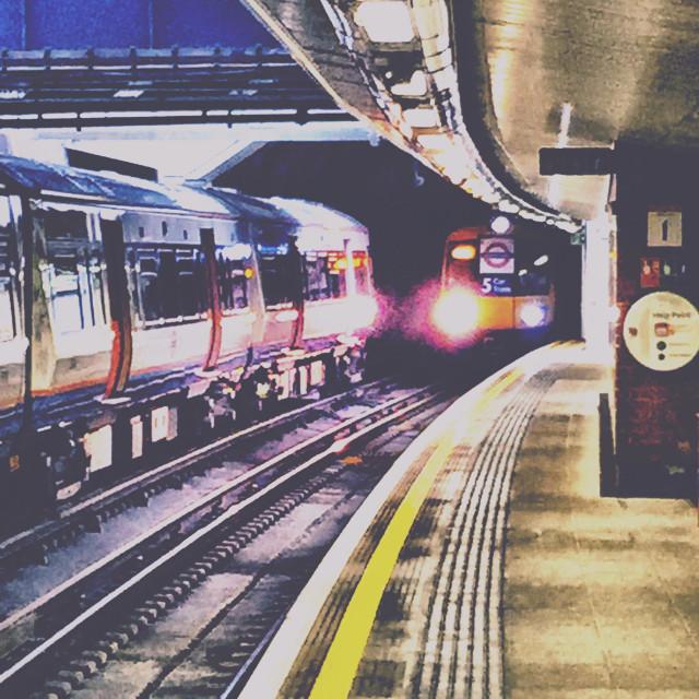 """""""London Overground - Rotherhite station"""" stock image"""