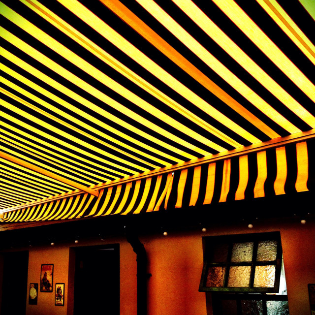 """Striped Awning"" stock image"