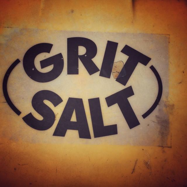 """""""Grit salt sign"""" stock image"""