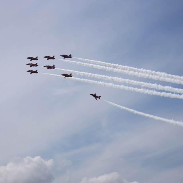 """""""Red Arrows Pt.3"""" stock image"""
