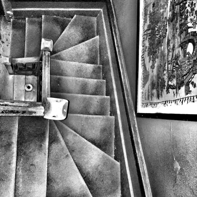 """Stairway built in 1600s"" stock image"
