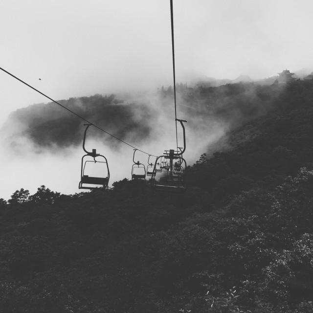 """Highest ski lift"" stock image"