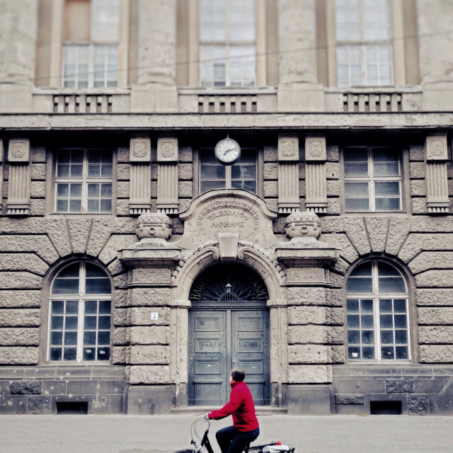 """Cycle ride through East Berlin Germany Europe"" stock image"