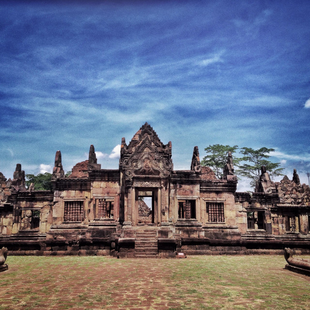"""Prasat Muang Tam, a khmer temple in Buri Ram"" stock image"