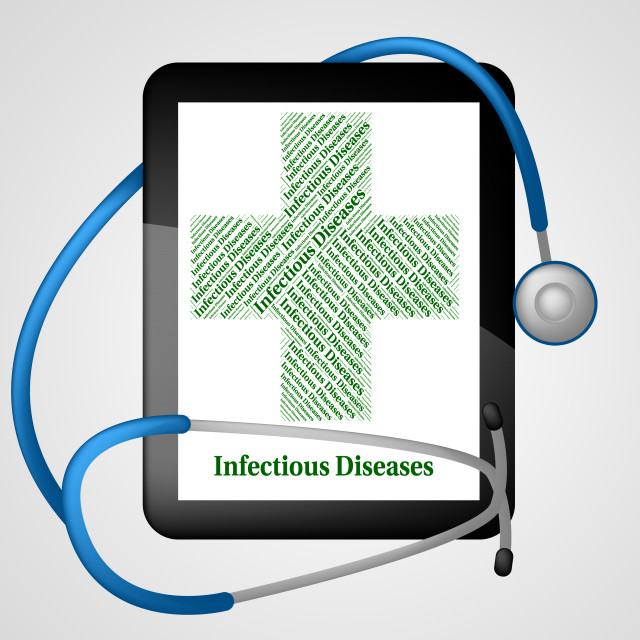 """""""Infectious Diseases Shows Poor Health And Affliction"""" stock image"""