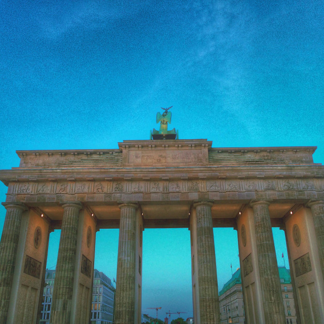 """""""Berlin Brandenburg gate from the West side - Germany"""" stock image"""