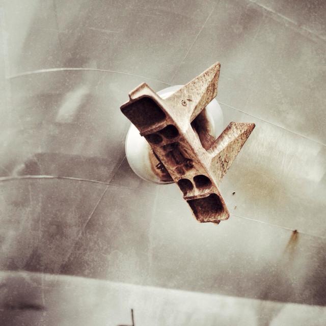 """Anchor of a freighter ship"" stock image"