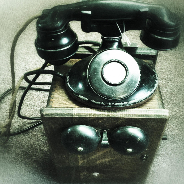 """Telephone and ringer box vintage"" stock image"