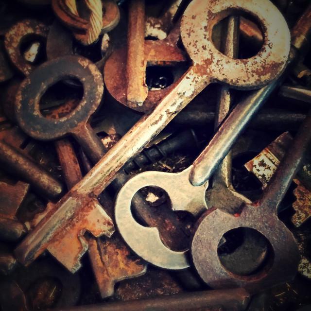 """""""Vintage keys"""" stock image"""