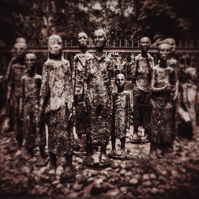 """Jewish Cemetery memorial in Berlin Germany by Will Lammert"" stock image"