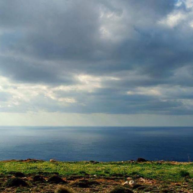 """View from Dingli Cliffs, Malta"" stock image"