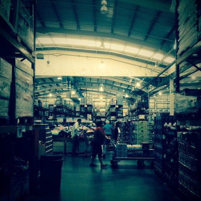 """Inside a wholesale warehouse."" stock image"