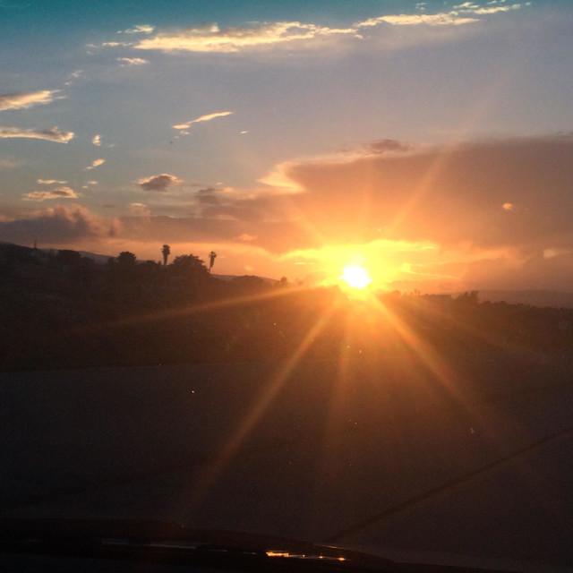 """""""Desert sunsets"""" stock image"""