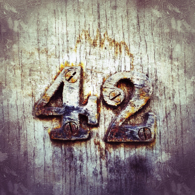 """Number 42"" stock image"