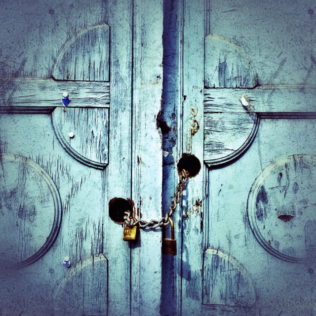 """Locked doors"" stock image"