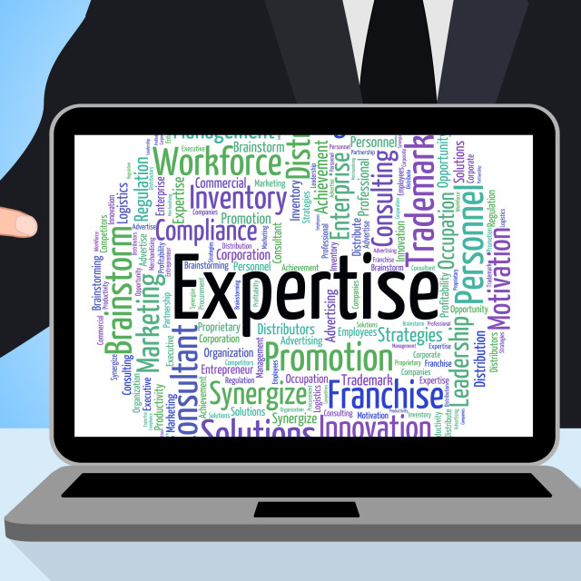 """Expertise Word Represents Proficiency Words And Education"" stock image"