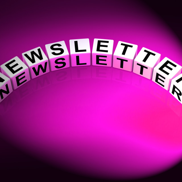 """""""Newsletter Letters Show Publication Of Updates And Reports"""" stock image"""