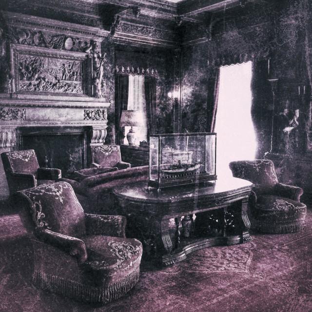 """Vanderbilt gilded period mansion room"" stock image"