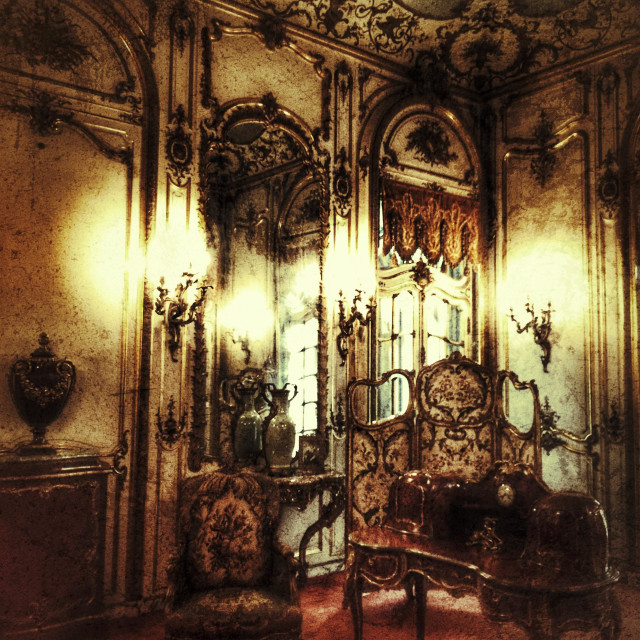 """Vanderbilt Mansion Gilded period room"" stock image"
