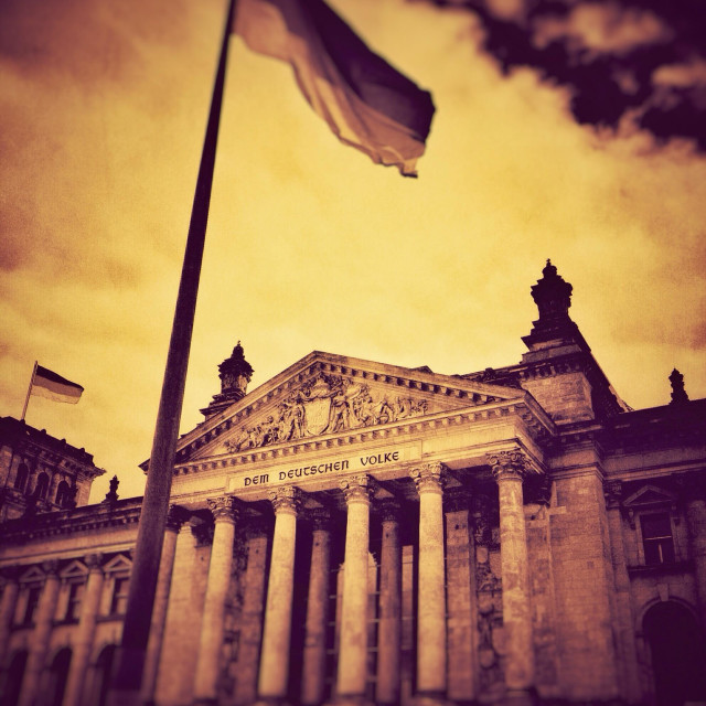"""The Reichstag Berlin Germany EU"" stock image"