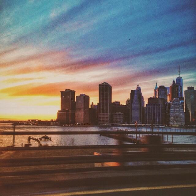 """""""Driving into brooklyn"""" stock image"""