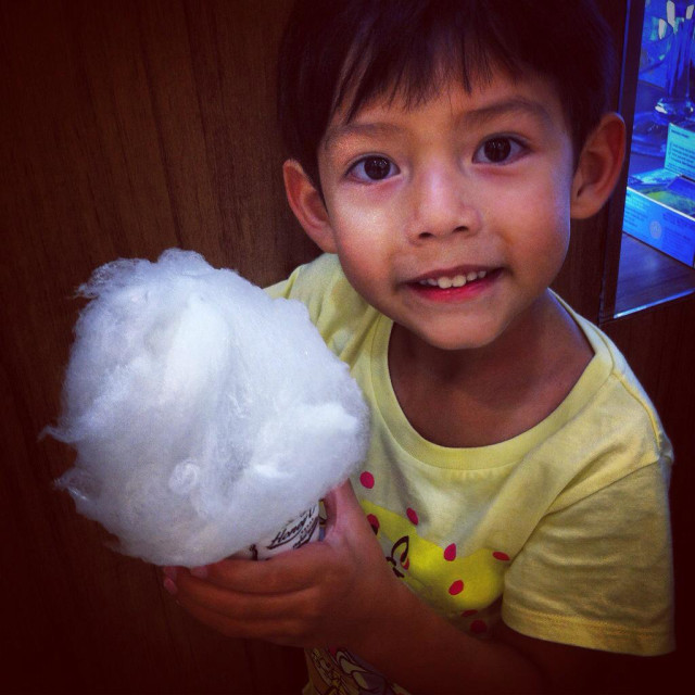"""Candy floss boy"" stock image"
