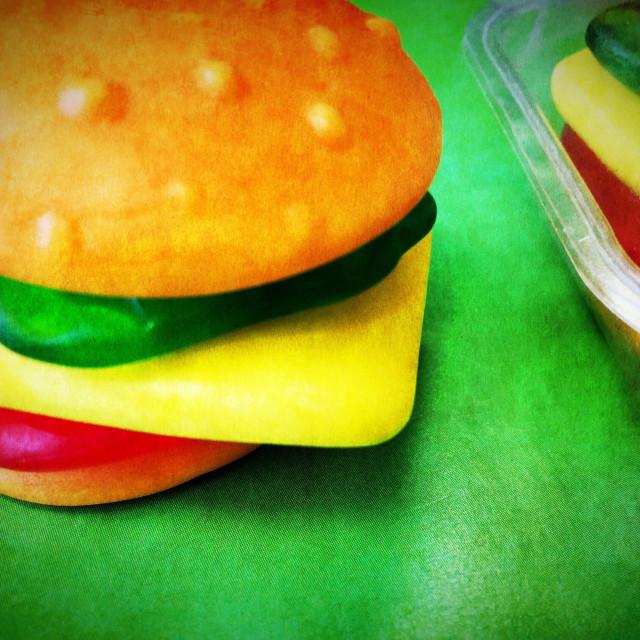 """Candy hamburgers"" stock image"