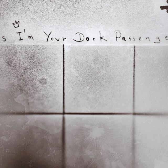 """""""Dark passenger"""" stock image"""