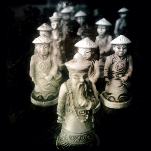 """""""Game of chess figures / Chinese"""" stock image"""