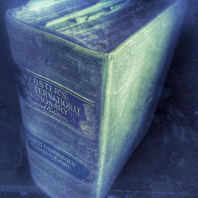 """Webster Dictionary 1948 vintage"" stock image"