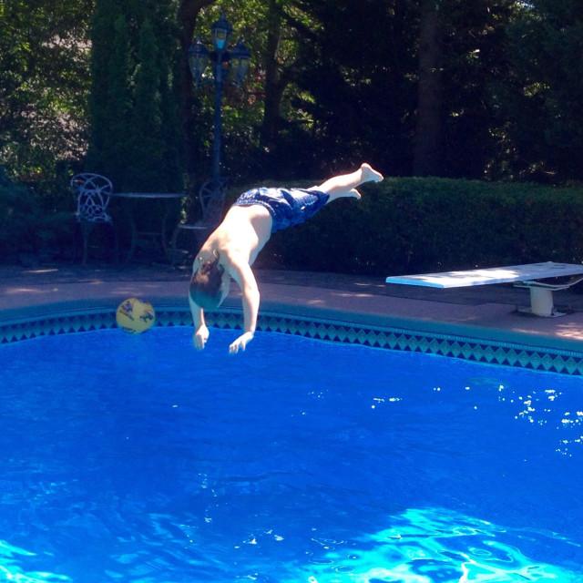 """Diving Boy"" stock image"