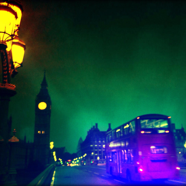 """""""Westminster Bridge Road over the River Thames, City of Westminster, Central London, England, United Kingdom, Europe"""" stock image"""