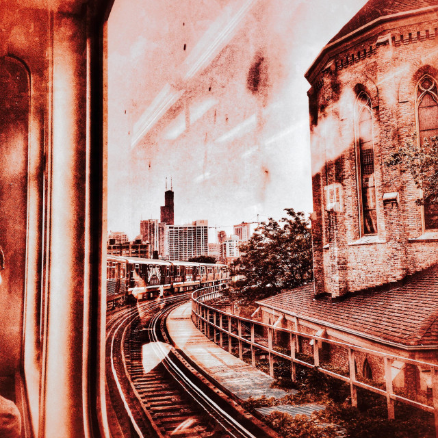 """View from a Chicago train"" stock image"