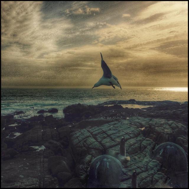 """Sea view along the Seapoint promenade ."" stock image"