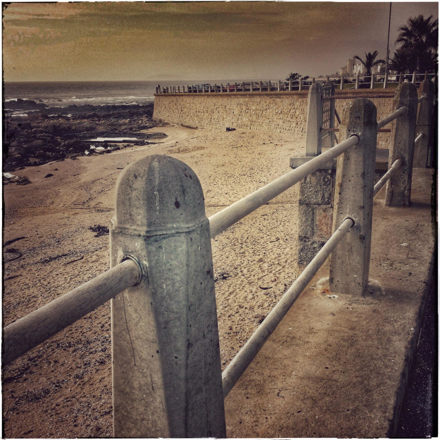 """""""Seapoint promenade , Cape Town, Souyh Africa."""" stock image"""
