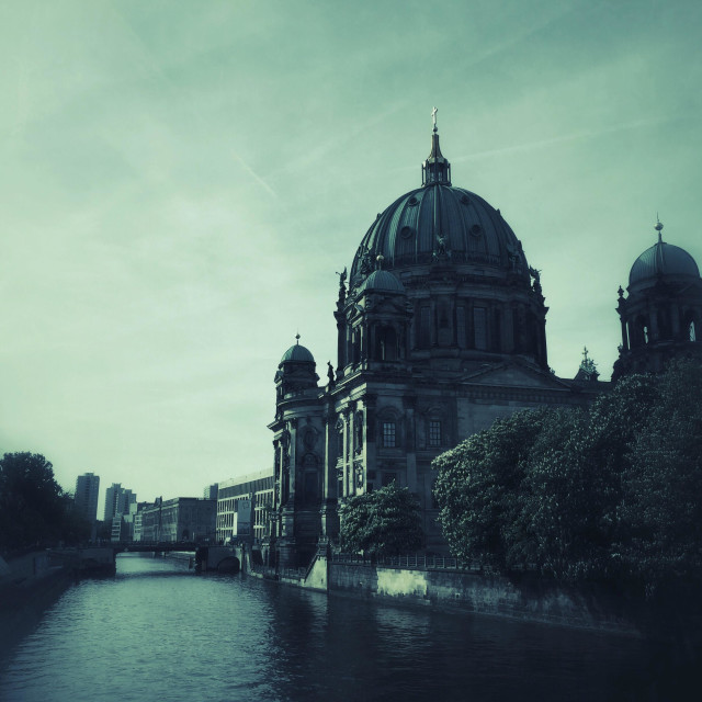 """""""Berliner Dom cathedral by the river Spree Berlin Germany"""" stock image"""