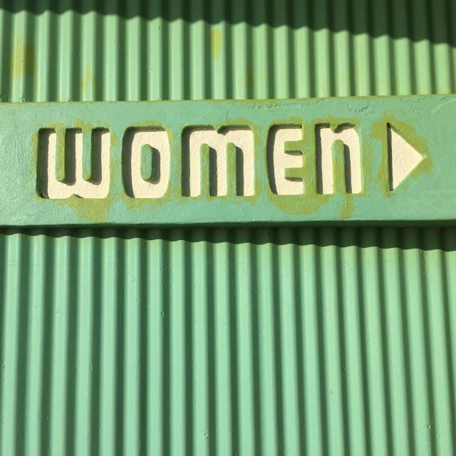 """Women sign"" stock image"