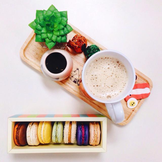 """Macaroon and Coffee"" stock image"