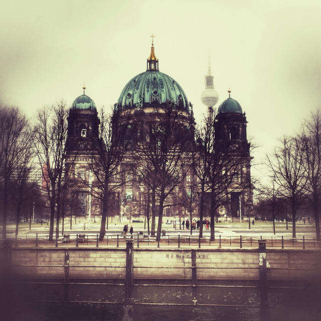 """""""Berliner Dom and TV Tower Berlin"""" stock image"""